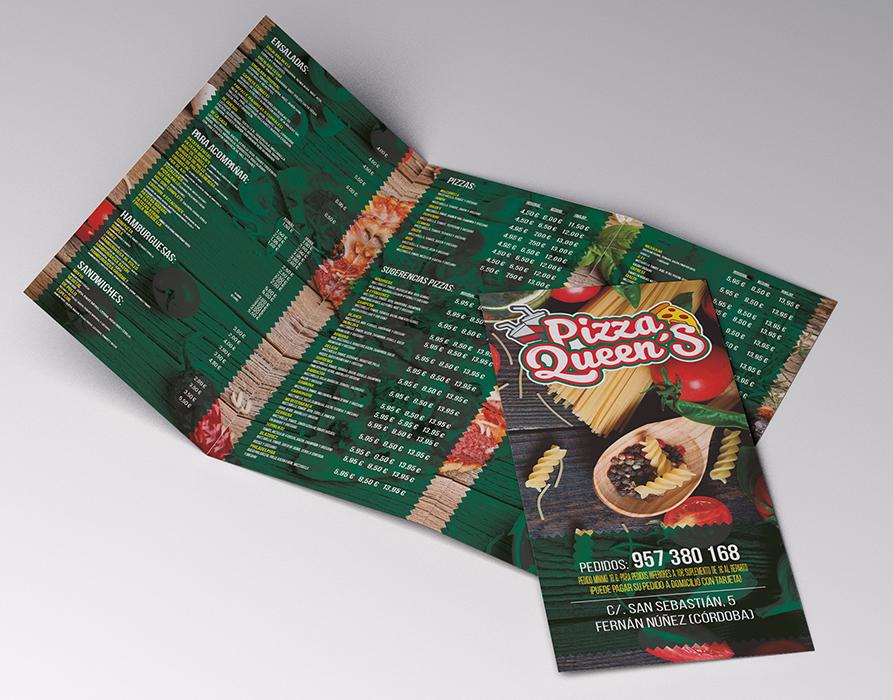 Pizza Queens - Diseño gráfico
