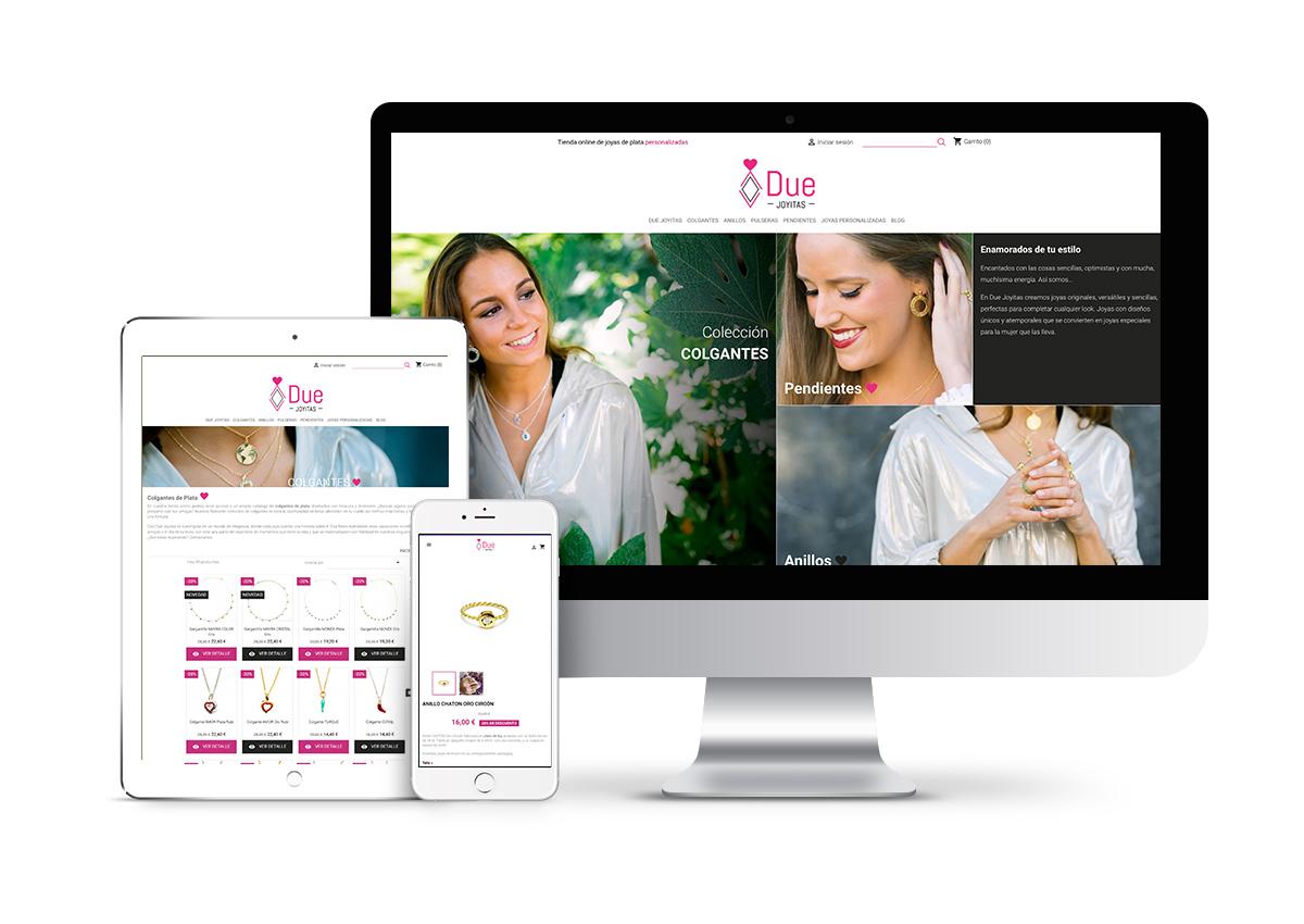 Due Joyitas - Diseño tienda online