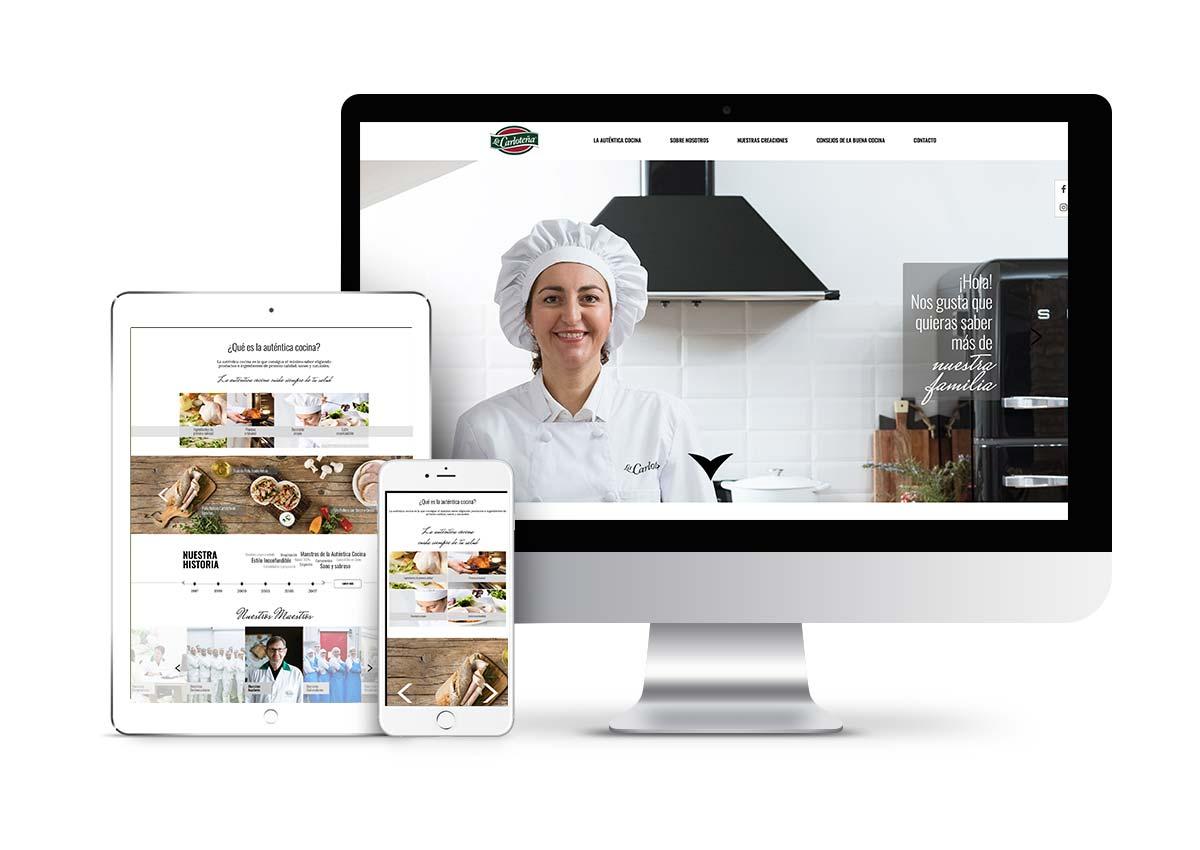 La Carloteña - Diseño web