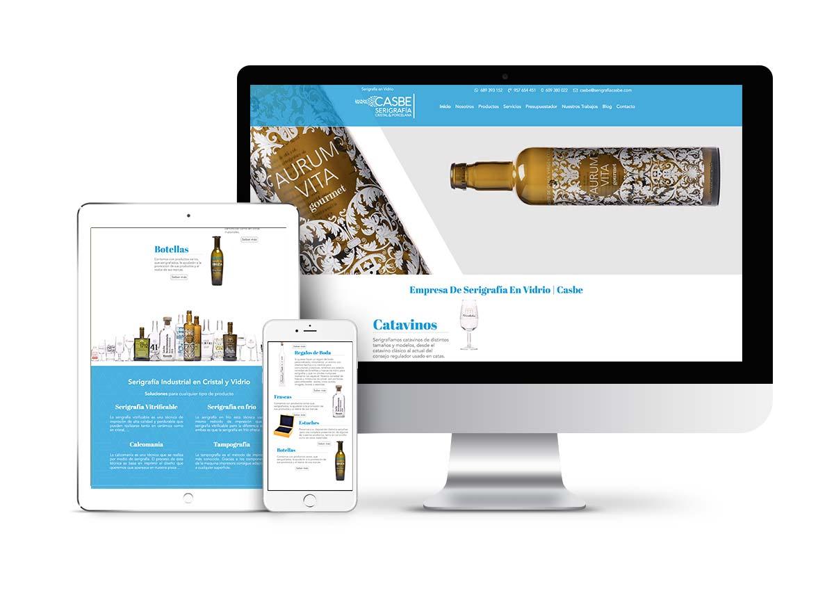 Casbe serigrafía - Diseño tienda online