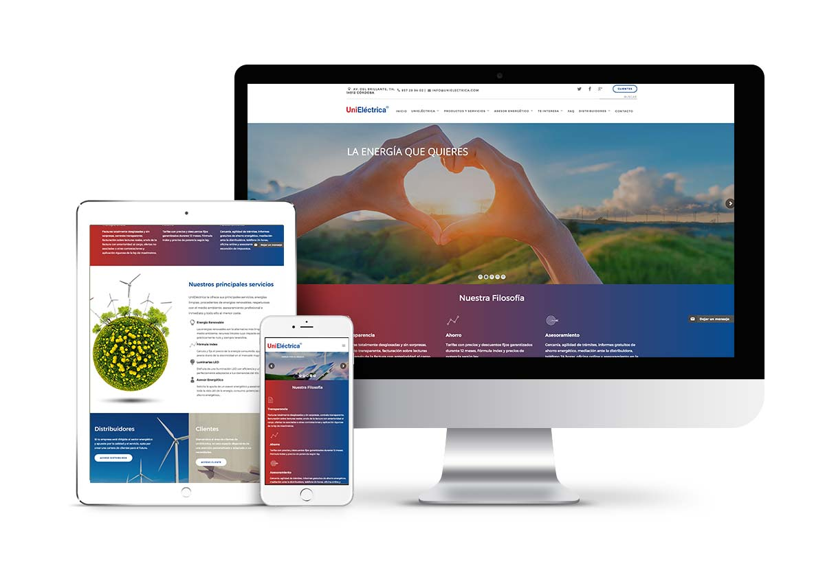 Unieléctrica - Diseño web