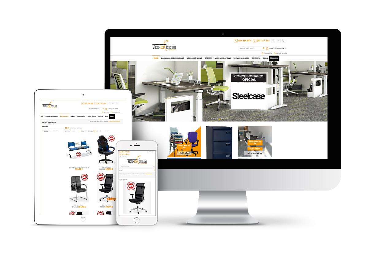 Tecno-oficinas - Diseño tienda online
