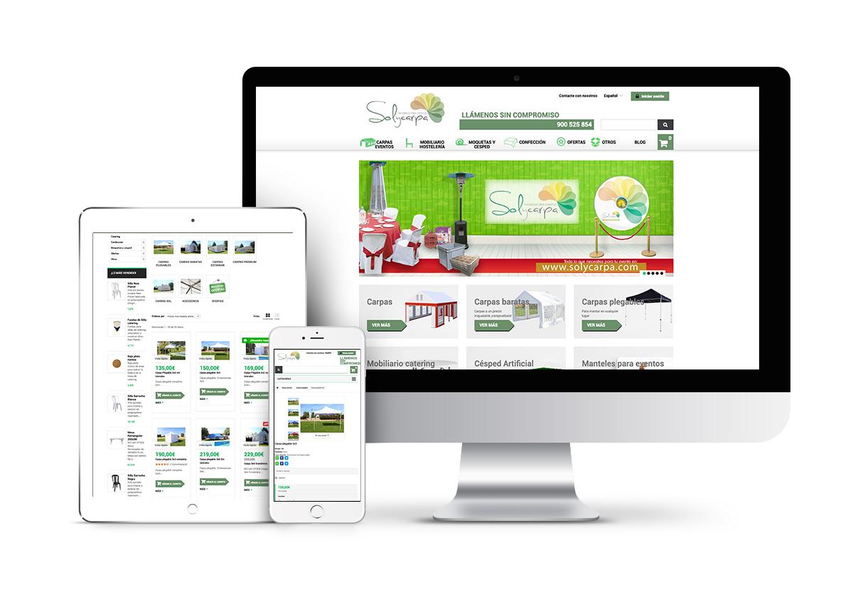Sol y carpa - Diseño tienda online