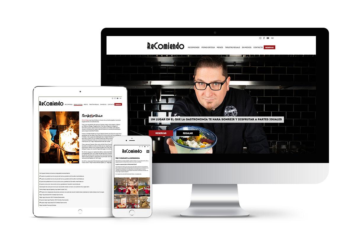 ReComiendo - Diseño web