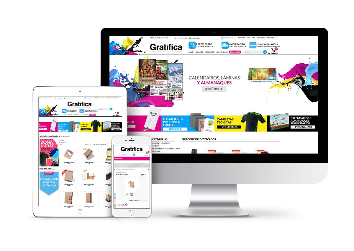 Gratifica – Diseño tienda online