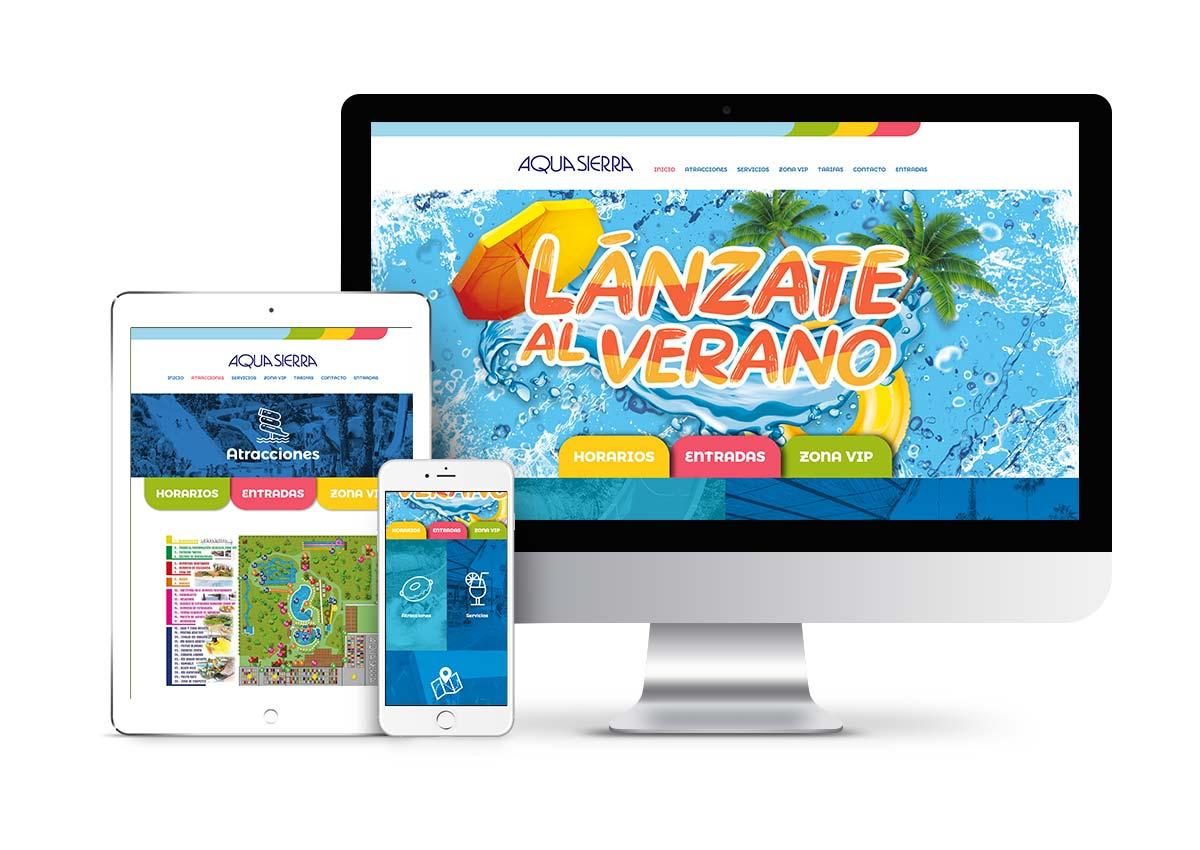 Aquasierra - Diseño web