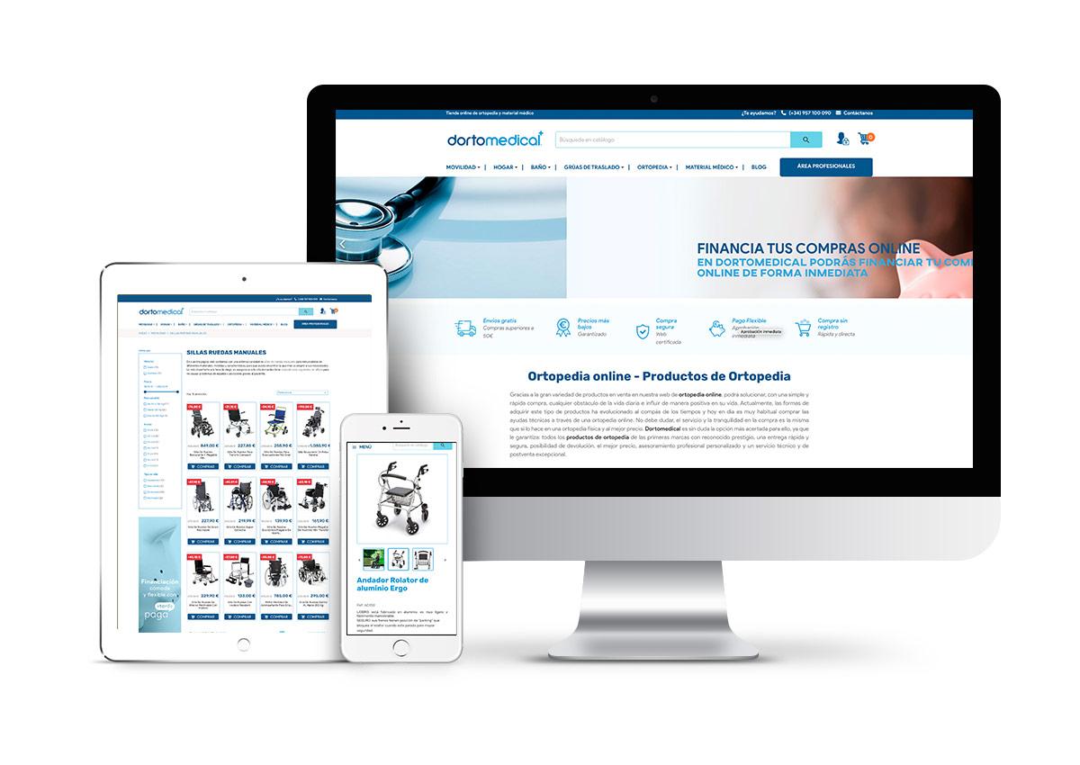 Dortomedical – Diseño tienda online