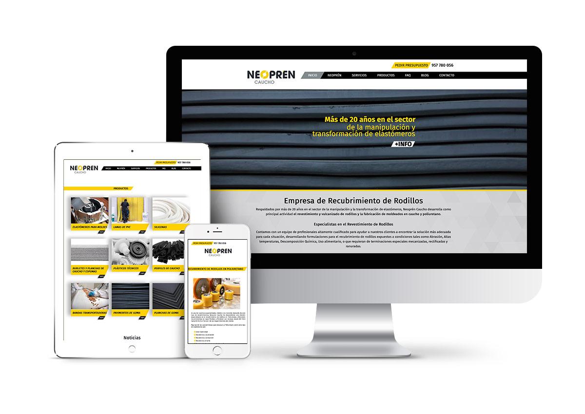 Neopren Caucho – Diseño web
