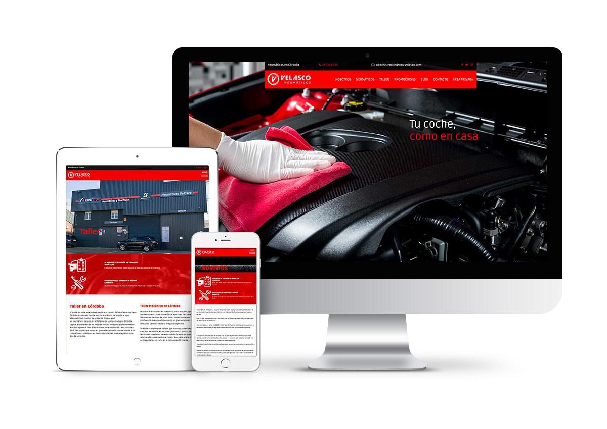 Neumáticos Velasco – Diseño web
