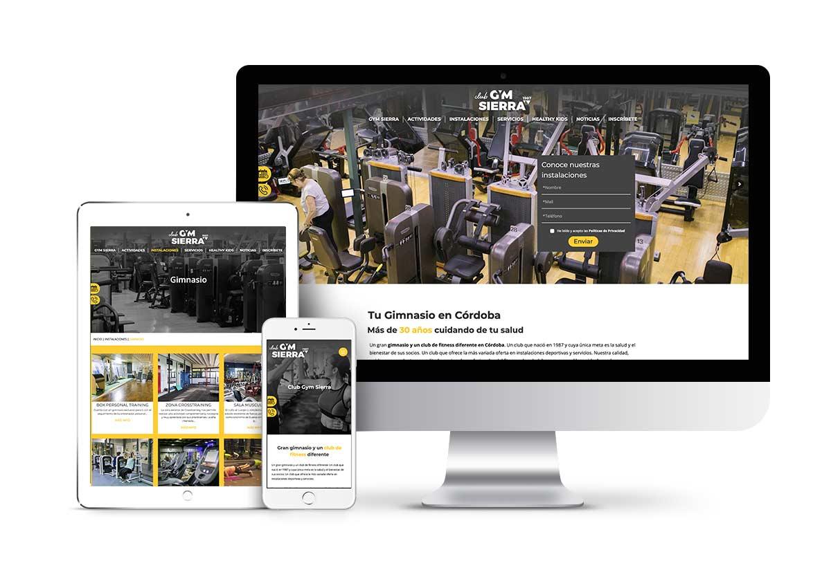 Gym Sierra – Diseño web