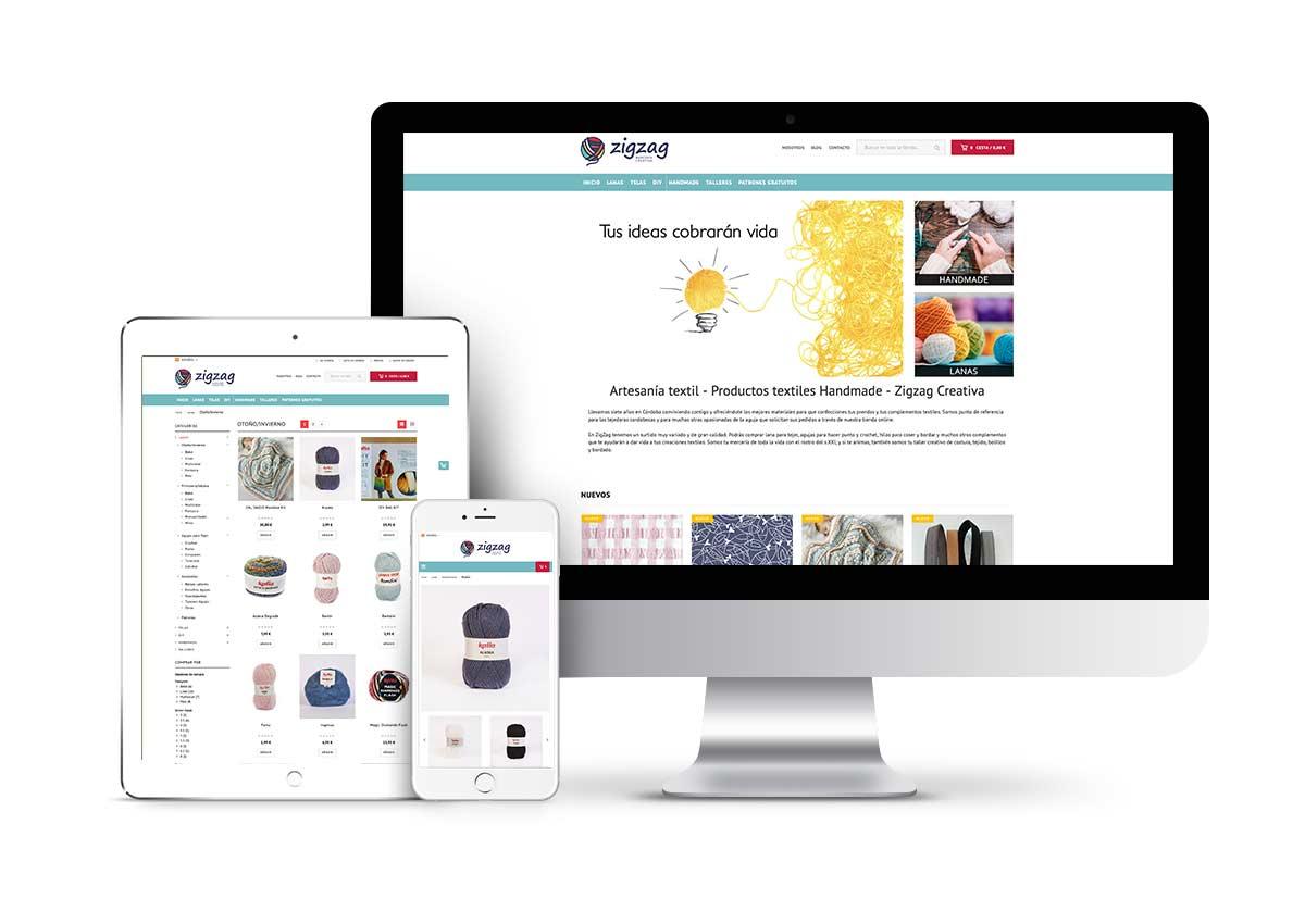 ZigZag Mercería – Diseño tienda online