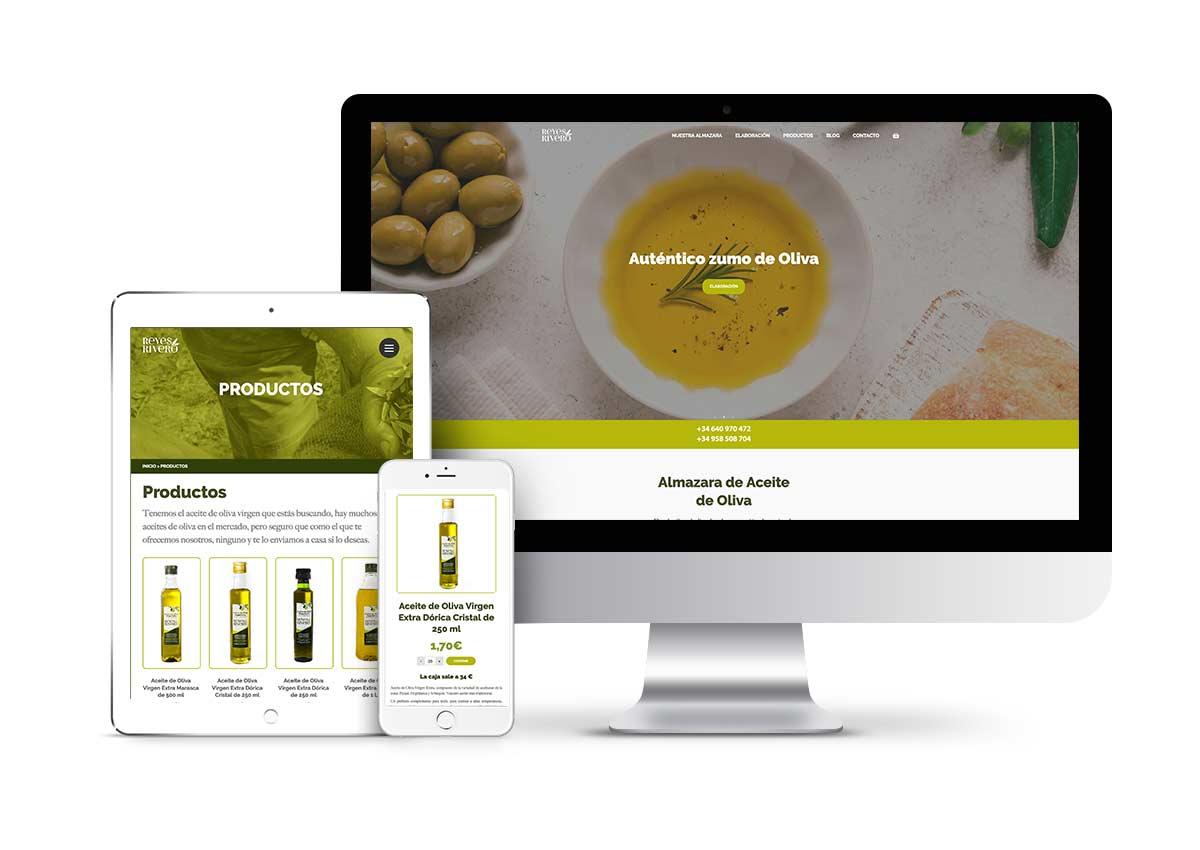 Reyes Rivero – Diseño tienda online