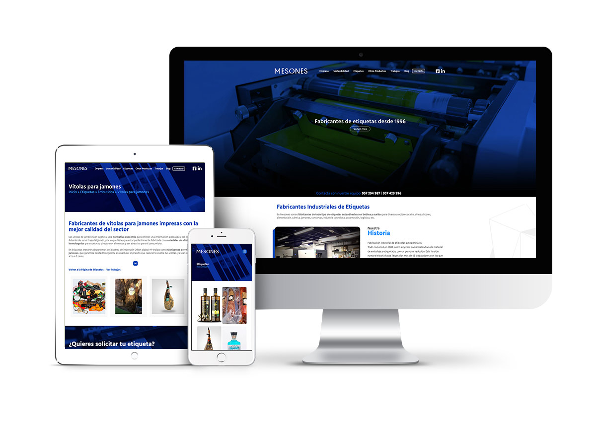 Mesones – Diseño web