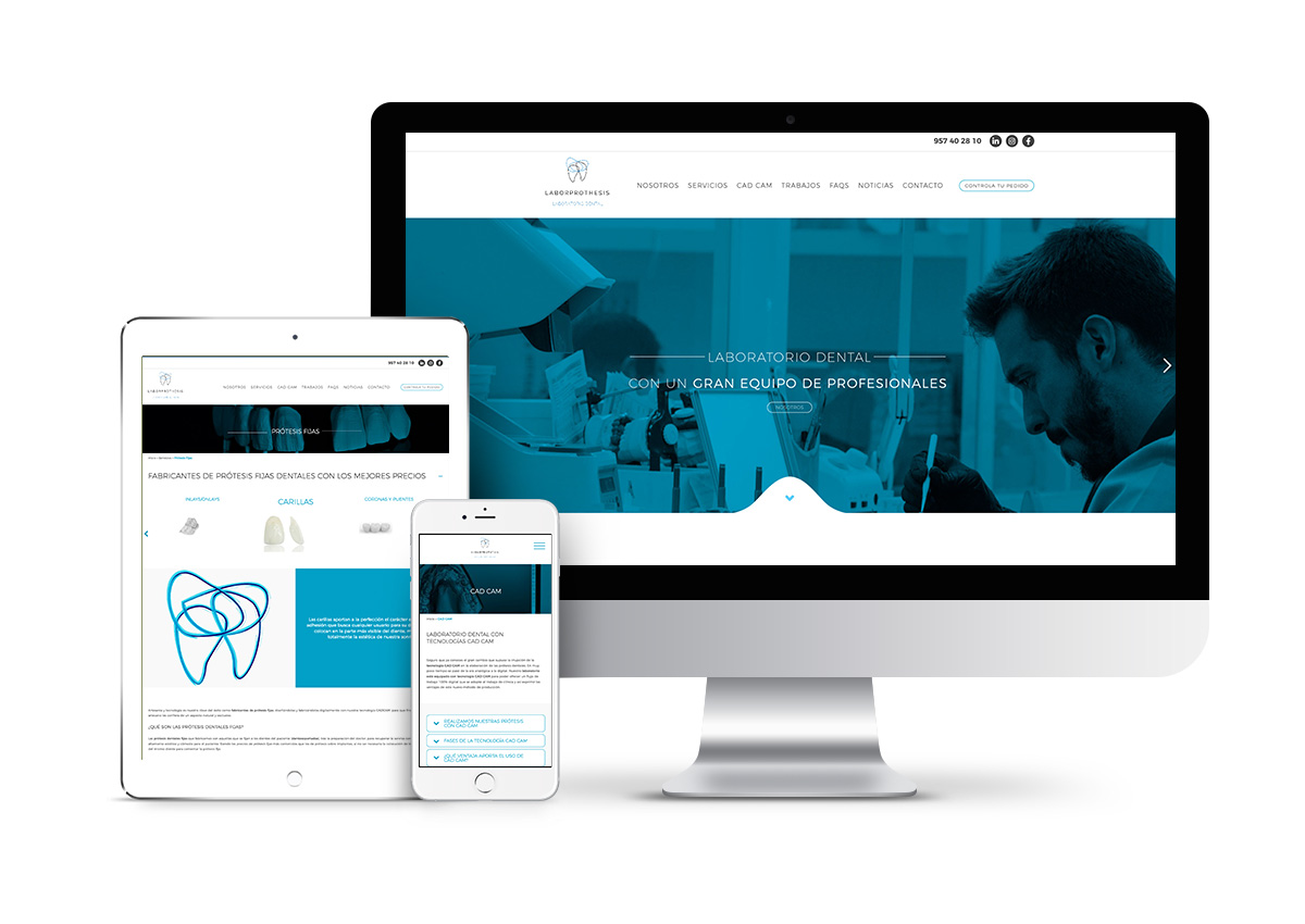 Laborprothesis – Diseño web