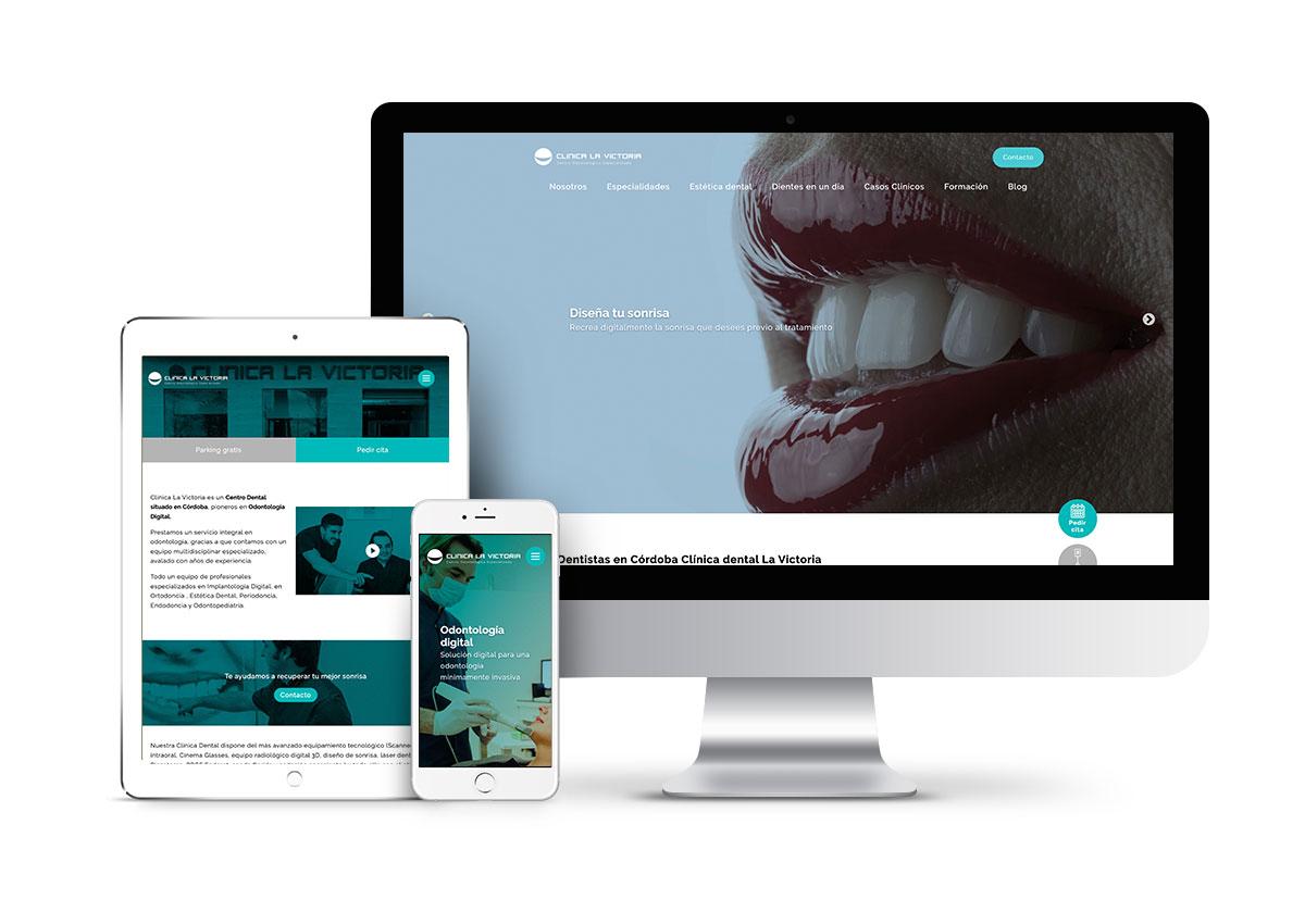 Clínica dental La Victoria – Diseño web