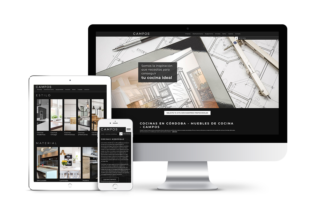 Cocinas Campos – Diseño web