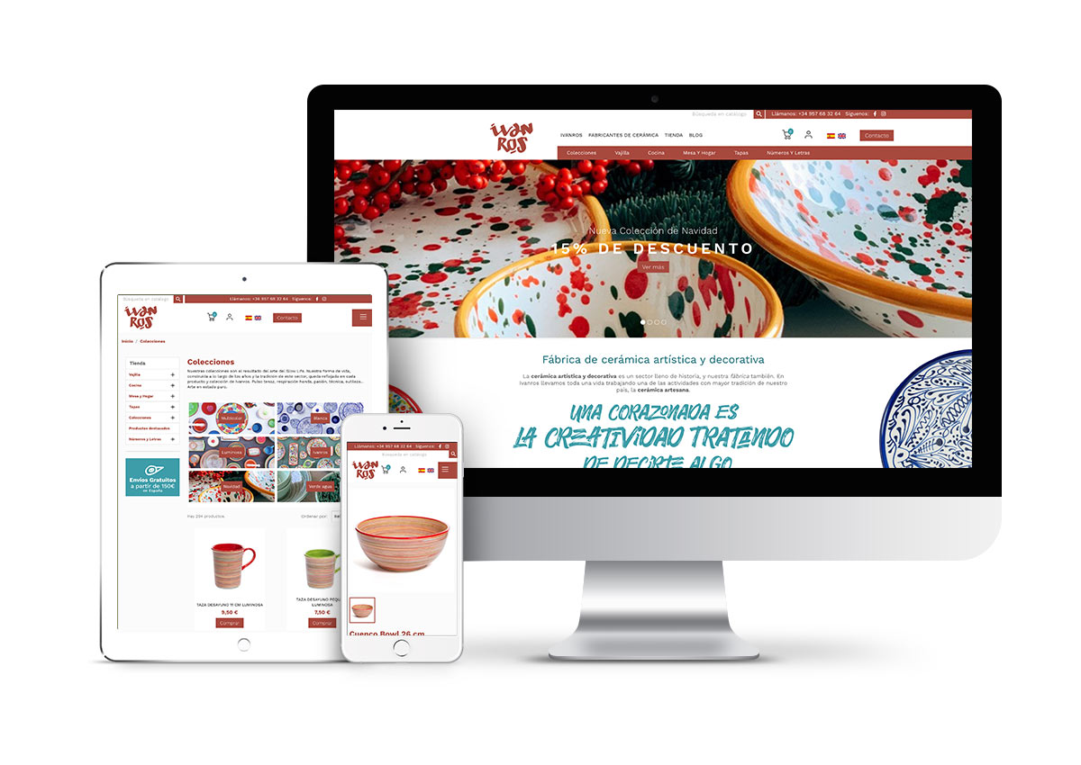 Ivanros – Diseño tienda online