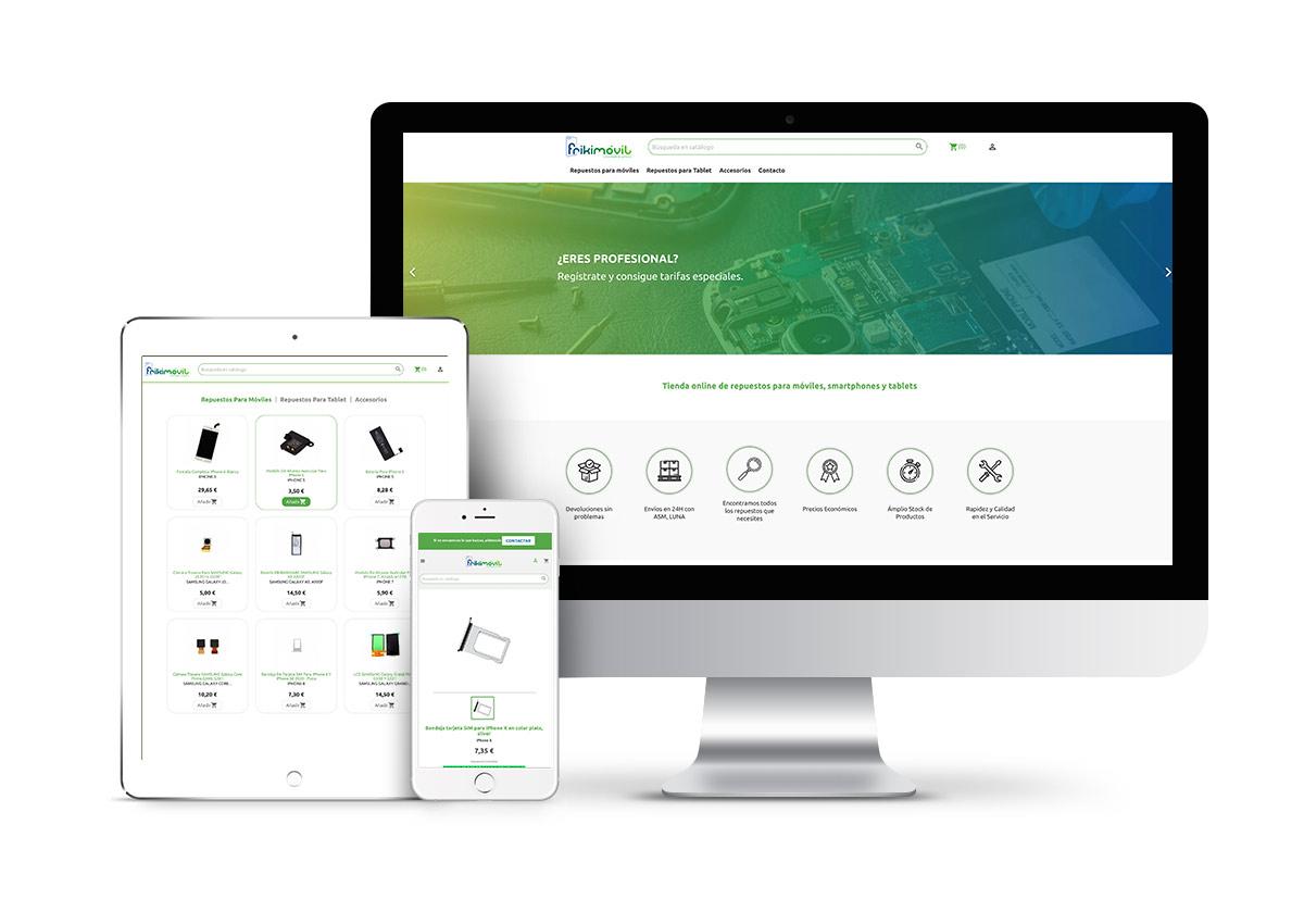 Frikimovil – Diseño tienda online