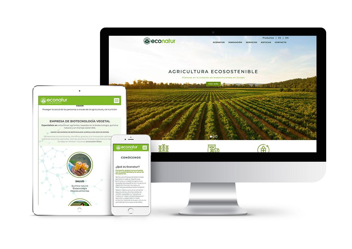 Econatur – Diseño web